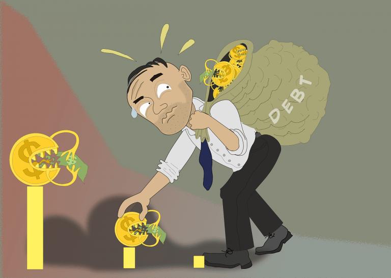 איש עם חובות